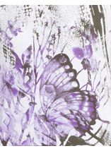 Anna Rose Butterfly Print Embellished Top White/Lilac - Gallery Image 4
