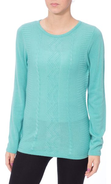 Anna Rose Embellished Knitted Top Pale Jade