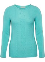 Anna Rose Embellished Knitted Top Pale Jade - Gallery Image 4