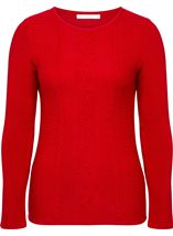 Anna Rose Embellished Knitted Top Red - Gallery Image 1