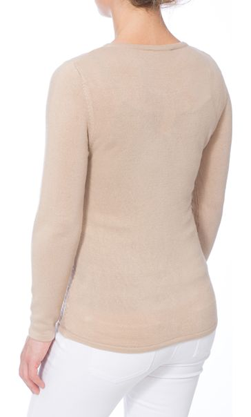 Anna Rose Embellished Knitted Top Beige - Gallery Image 3