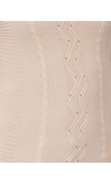 Anna Rose Embellished Knitted Top Beige - Gallery Image 4