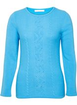 Anna Rose Embellished Knitted Top Blue - Gallery Image 1