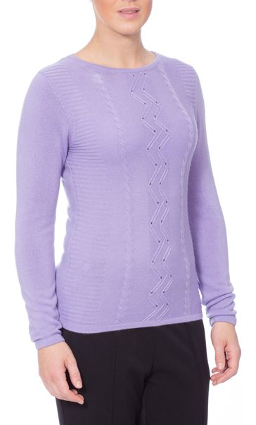 Anna Rose Embellished Knitted Top Lilac - Gallery Image 2