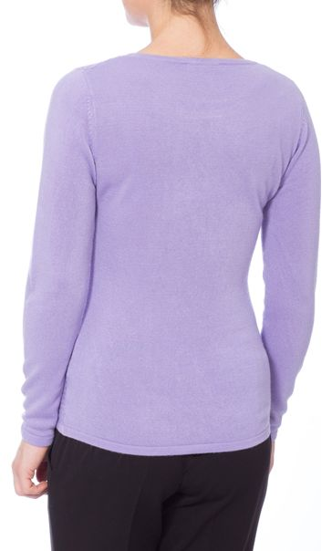 Anna Rose Embellished Knitted Top Lilac - Gallery Image 3