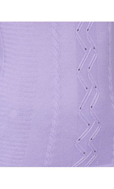 Anna Rose Embellished Knitted Top Lilac - Gallery Image 4