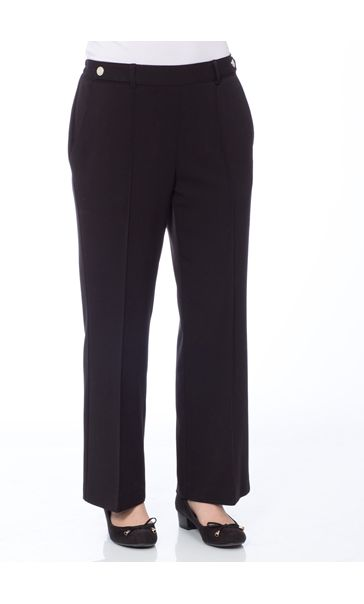 Anna Rose 27 Inch Straight Leg Trousers Black
