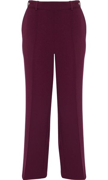 Anna Rose 27 Inch Straight Leg Trousers Burgundy
