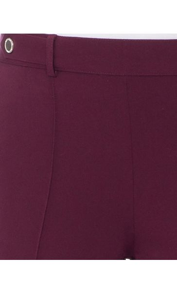Anna Rose 27 Inch Straight Leg Trousers Burgundy - Gallery Image 4