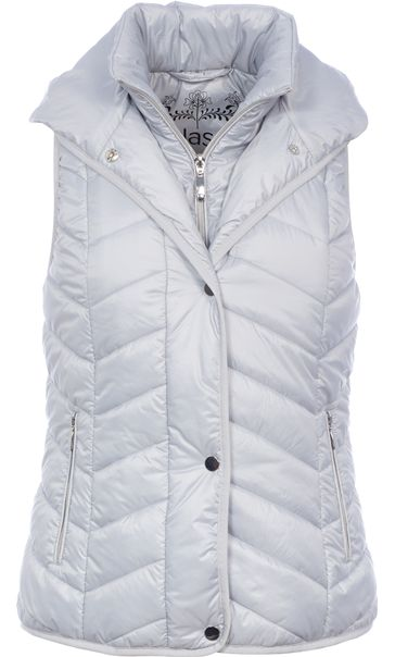 Chevron Padded Gilet Ice