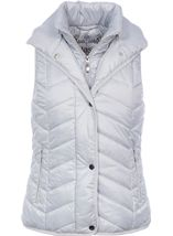 Chevron Padded Gilet Ice - Gallery Image 1