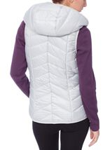 Chevron Padded Gilet Ice - Gallery Image 3