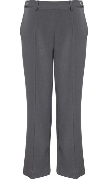 Anna Rose 27 Inch Straight Leg Trousers Charcoal