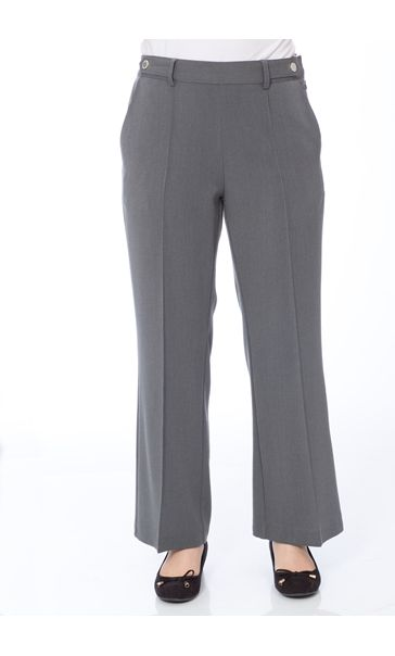 Anna Rose 29 Inch Straight Leg Trousers Charcoal