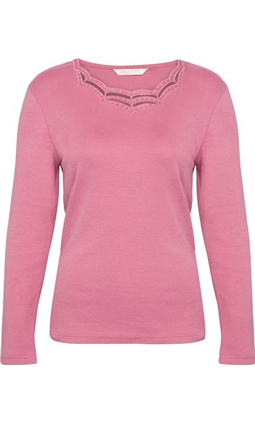Anna Rose Long Sleeve Embellished Top Dusky Pink - Gallery Image 1