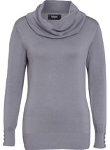 Everyday Cowl Neck Knit Top