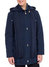Anna Rose Scarf Coat Navy - Gallery Image 1