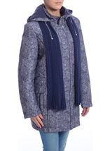 Anna Rose Printed Parka With Scarf Navy - Gallery Image 2