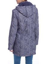 Anna Rose Printed Parka With Scarf Navy - Gallery Image 3