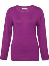 Anna Rose Jewelled Neck Knit Top Orchid - Gallery Image 1