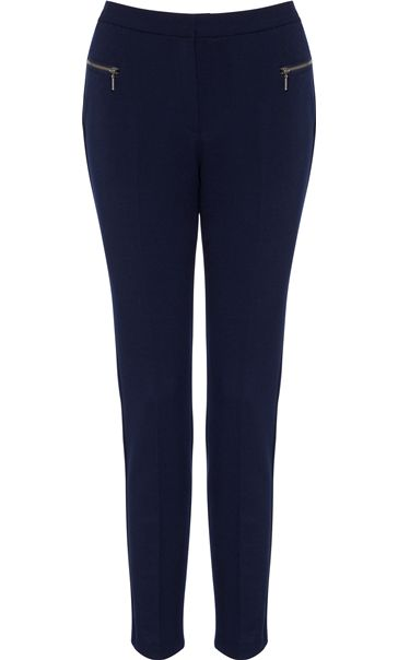 Slim Leg 29 Inch Trousers Navy