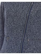 Suedette Trim Biker Jacket Navy/Grey - Gallery Image 4