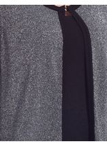 Anna Rose Three Quarter Sleeve Sparkle Knit Cover Up Silver/Black - Gallery Image 4