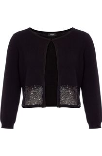 Sequin Trim Knit Cover Up