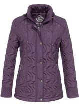 Anna Rose Swirl Stitch Padded Coat Amethyst - Gallery Image 1