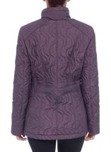 Anna Rose Swirl Stitch Padded Coat Amethyst - Gallery Image 3