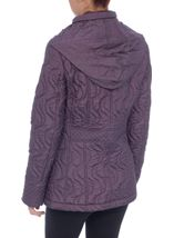 Anna Rose Swirl Stitch Padded Coat Amethyst - Gallery Image 4