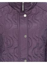 Anna Rose Swirl Stitch Padded Coat Amethyst - Gallery Image 5