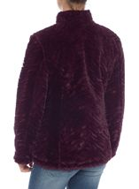 Reversible Faux Fur And Quilted Coat Navy/Claret - Gallery Image 5