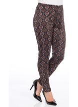 Printed Full Length Leggings Brown/Paprika - Gallery Image 2