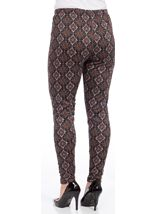 Printed Full Length Leggings Brown/Paprika - Gallery Image 3