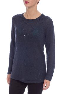 Long Sleeve Sequin Knit Top