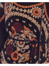 Patterned Wrap Over Knit Cardigan Black Multi - Gallery Image 5