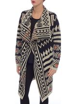 Patterned Open Knit Cardigan Multi - Gallery Image 2
