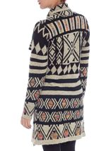 Patterned Open Knit Cardigan Multi - Gallery Image 3