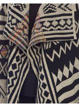 Patterned Open Knit Cardigan Multi - Gallery Image 4