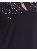 Anna Rose Short Sleeve Diamante Jersey Top Black - Gallery Image 4