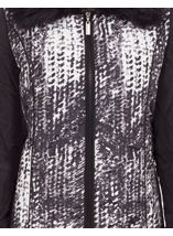 Anna Rose Faux Fur Collar Coat Black/White - Gallery Image 5