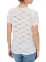 Anna Rose Textured Sparkle Short Sleeve Top Optic White - Gallery Image 3