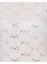 Anna Rose Textured Sparkle Short Sleeve Top Optic White - Gallery Image 4