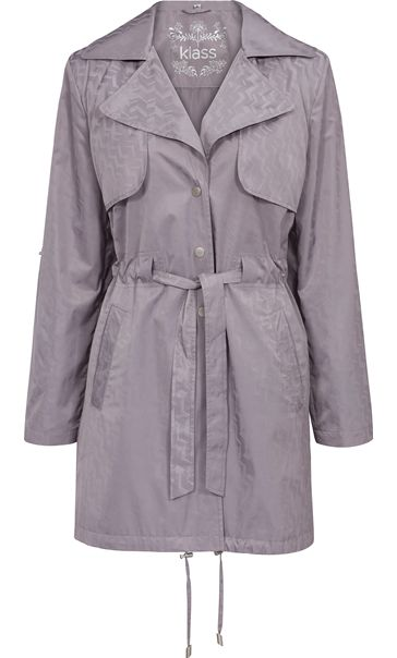 Turn Sleeve Trench Coat Mist