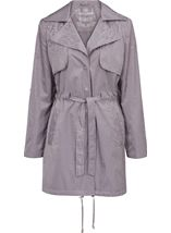 Turn Sleeve Trench Coat Mist - Gallery Image 1