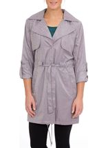 Turn Sleeve Trench Coat Mist - Gallery Image 2