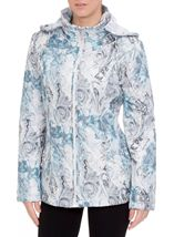 Anna Rose Watercolour Print Padded Jacket Blue - Gallery Image 2