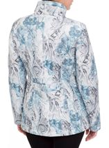 Anna Rose Watercolour Print Padded Jacket Blue - Gallery Image 3