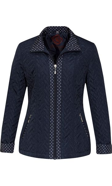 Anna Rose Lightweight Quilt Coat Navy